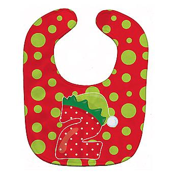 Carolines schatten BB8688BIB kerst maand 2 Baby slabbetje