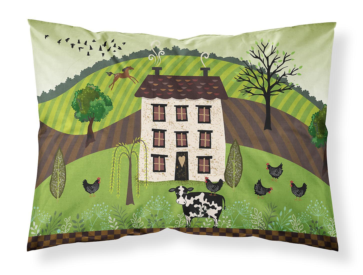 Du Taie D'oreiller Standard Tissu Art house Folk country f6yb7Yg