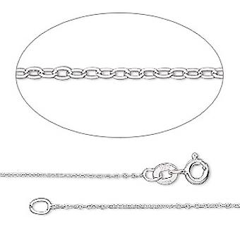 GEMSHINE 925 Silver necklace. 0.6 mm anchor chain in a classic design with lengths from 40 to 46 cm