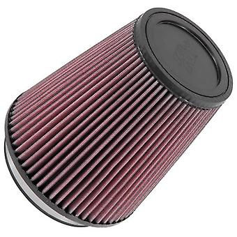 K&N RU-2800 Universal Clamp-On Air Filter: Round Tapered; 5 in (127 mm) Flange ID; 7 in (178 mm) Height; 6.5 in (165 mm)