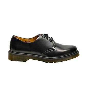Dr. Martens men's 1461PWSMOOTHBLACK black leather lace-up shoes