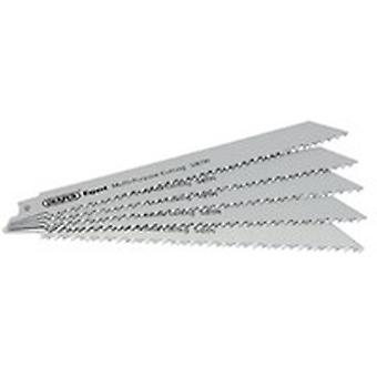 Draper 2314 Expert 5 x 200mm 5/8Tpi HSS Recip Saw Blades For Multi Cutting