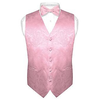 Mannen Paisley ontwerp jurk Vest & strikje BOWTie Set voor pak Tuxedo