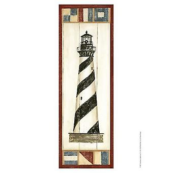Americana Lighthouse II Poster Print by Ethan Harper (13 x 19)