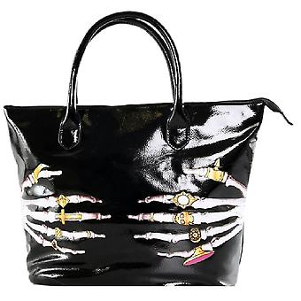 Iron Fist Large Black Death Groper Tote Handbag