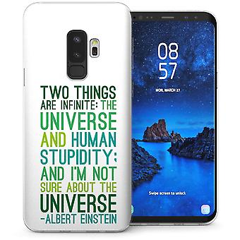 Samsung Galaxy S9 Plus Einstein Quote TPU Gel Case – White
