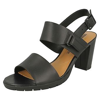 Ladies Clarks Heeled Slingback Sandals Kurtley Shine