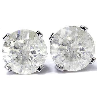 1 3/4 ct ダイヤモンド スタッド 14 K ホワイトゴールド