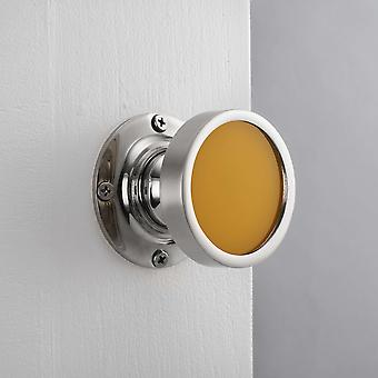 Contemporary Internal Yellow Mortice Door Knob