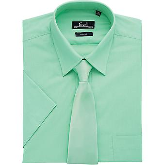Premier Mens Short Sleeve Polycotton Poplin Formal Corporate Shirt