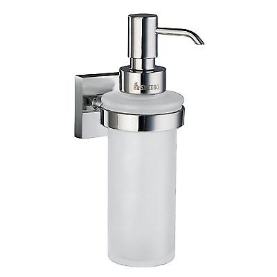 House Wallmount Holder With Glass Soap Dispenser - Polished Chrome RK369
