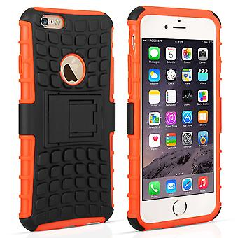 Caseflex Iphone 6 e 6s caso combinato di cavalletto - Orange
