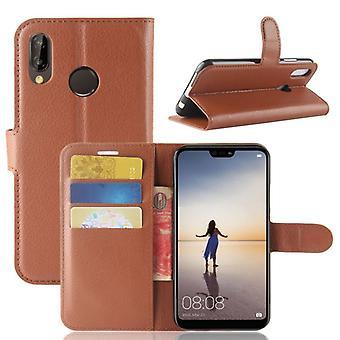 Premium di portafoglio tasca marrone per Huawei P20 Lite protezione custodia/cover pouch nuovi accessori