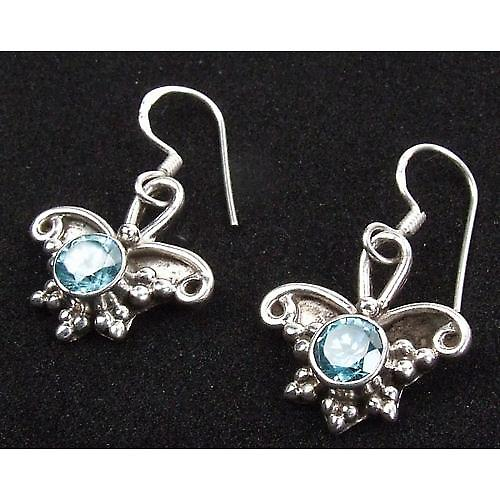 Butterfly Topaz 925 Silver Earrings