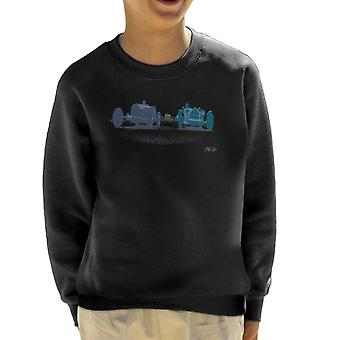 Bugatti Grand Prix 1920s Race Cars Art Kid's Sweatshirt