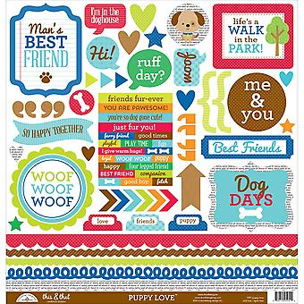 Puppy Love Cardstock Stickers 12