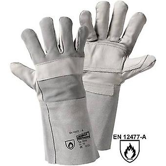 L+D worky BRIO 1816 Full-grain cowhide Welding gloves Size (gloves): Unisize EN 12477-A, EN 388 , EN 407 CAT II 1 pair