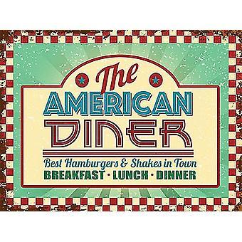 En acier petit Diner américain signer 200 X 150 Mm