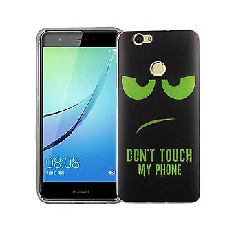 Dont touch mijn mobiele telefoon geval Huawei Nova siliconen tank bescherming glas