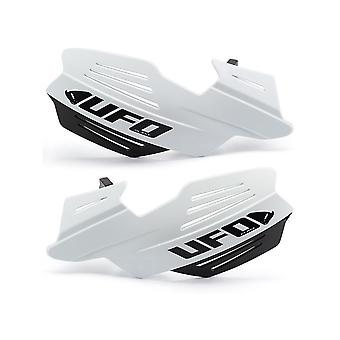 UFO White Vulcan Universal Dual Injection MX Hand Guards