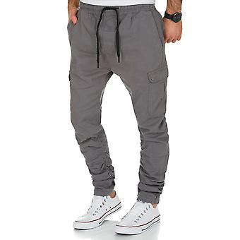 L.A.B 1928 men's cargo pants grey joggers