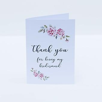 Thank you Bridesmaid Card Boho Design Wedding Card