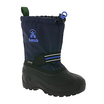 Kamik breathable Gore-Tex kids snow boots Navy