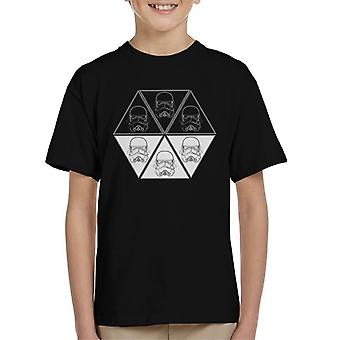 Original Stormtrooper Helmet Line Art Hexagon Kid's T-Shirt
