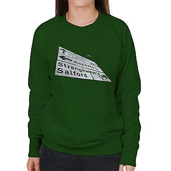 Manchester Road Signs 1985 Women's Sweatshirt