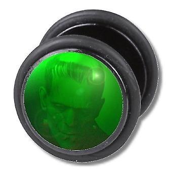 Fałszywe oszust Plug, kolczyk, ciało Biżuteria, zielony potwór