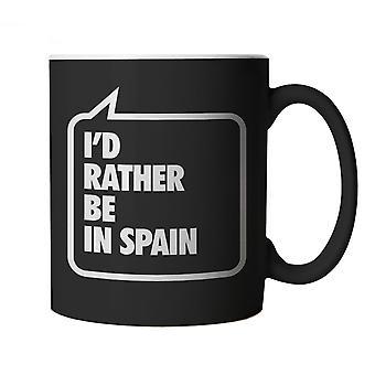 Ich wäre lieber In Spanien, schwarze Becher