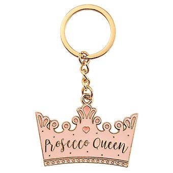 Sass & Belle Prosecco Queen Crown Enamel Keyring