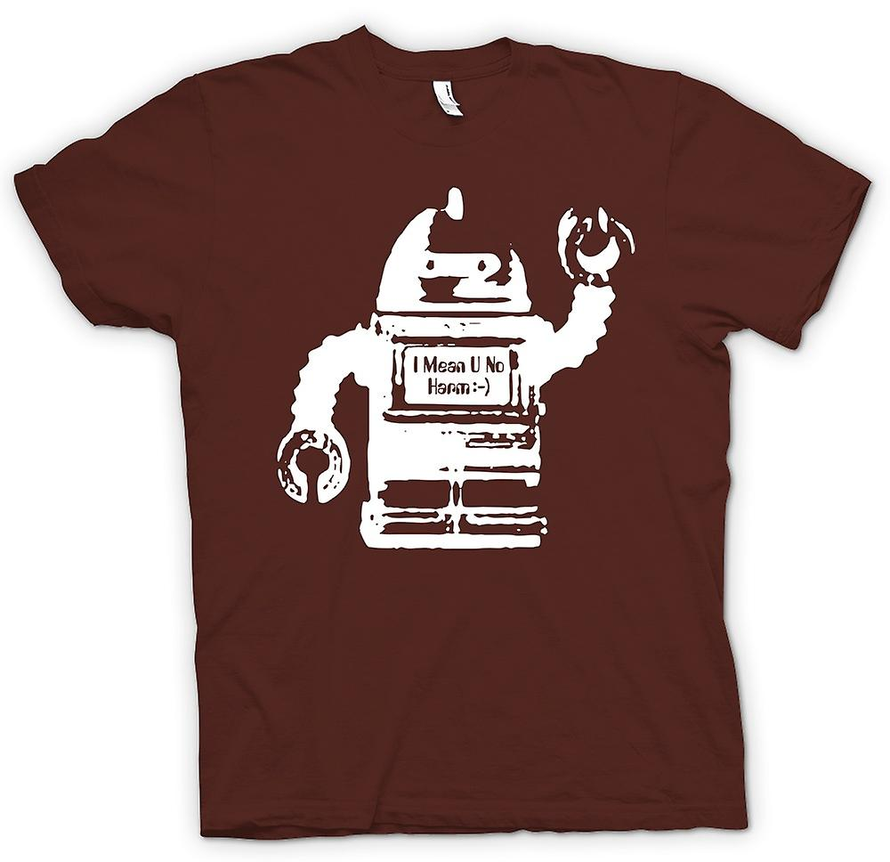 Mens T-shirt - Future Robot I Mean No Harm - Graphic Design