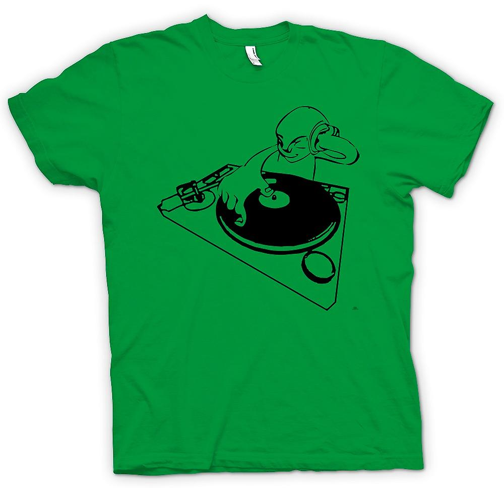 Heren T-shirt-DJ Spin de Decks