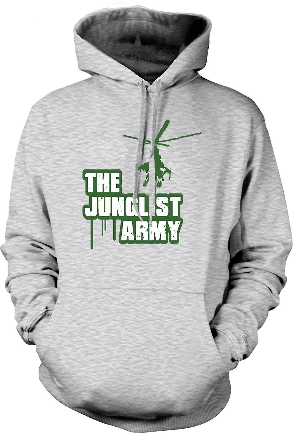 Mens Hoodie - The Junglist Army - Drum n Bass