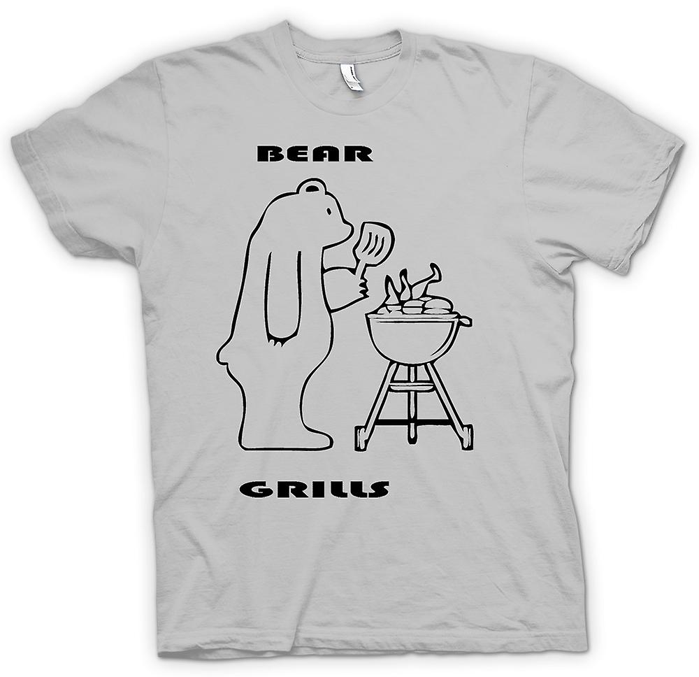 Heren T-shirt - Bear Grills - Quote