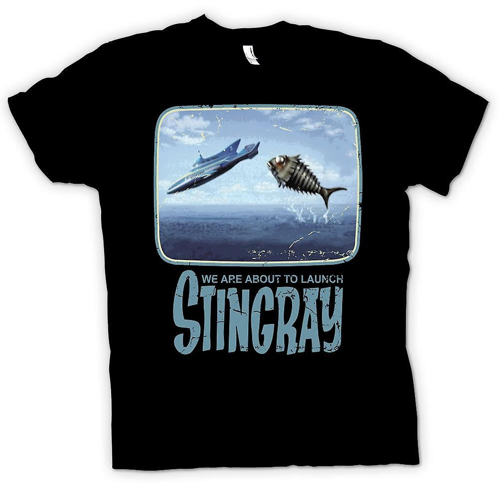 Mens t-shirt - stiamo per lanciare Stingray - Thunderbirds ispirato