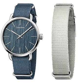 Calvin Klein reloj incluso azul K7B211WL