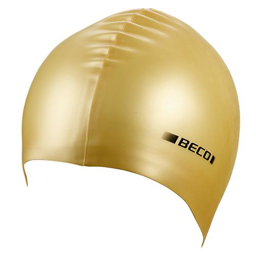 BECO Metallic Silicone Swimming Cap -Gold