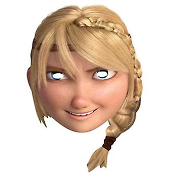 Astrid How To Train Your Dragon 2 Party Card Face Mask (single)