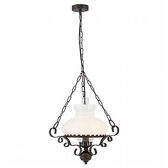 Searchlight 576RU Oil Lantern, Traditional Ceiling Pendant Light