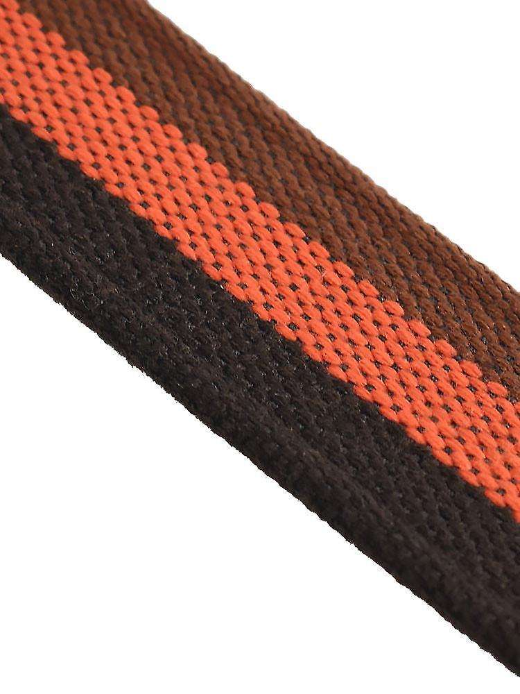 Orange and brown stripes woven canvas belt