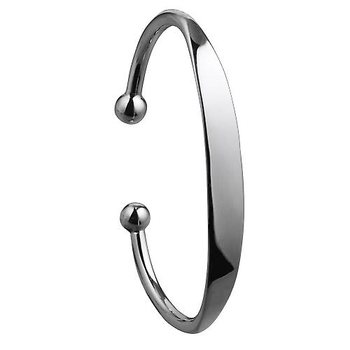 Silver 9mm wide solid gents Identity Torque Bangle