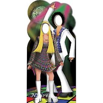 Disco Dancers Couple Stand-in Cardboard Cutout