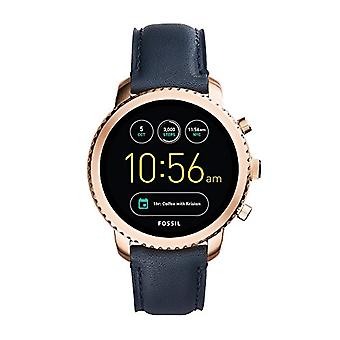 Fossil digital watch with leather strap FTW4002