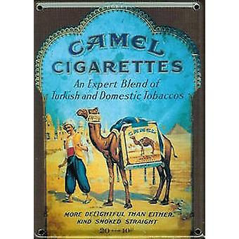 Camel Cigarettes metal postcard / mini sign    (hi pt)