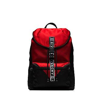 Givenchy Light3 Black/red Nylon Backpack