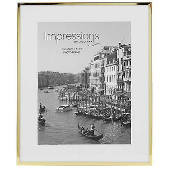 Juliana Impressions Brass Plated Photo Frame 6x8-Gold