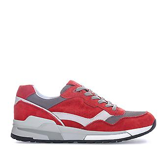Mens Geox Goometer Trainers In Red- Lightweight, Super-Breathable Sneaker,