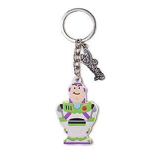 Disney Toy Story Buzz Lightyear Rubber Key Ring White - One Size (KE503201TOY)
